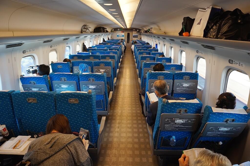 Các hạng ghế - Cách đi tàu điện ở Nhật