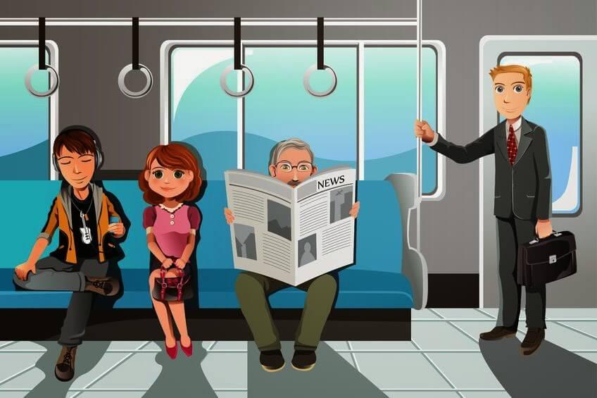 Hành khách trên tàu - Cách đi tàu điện tại Nhật
