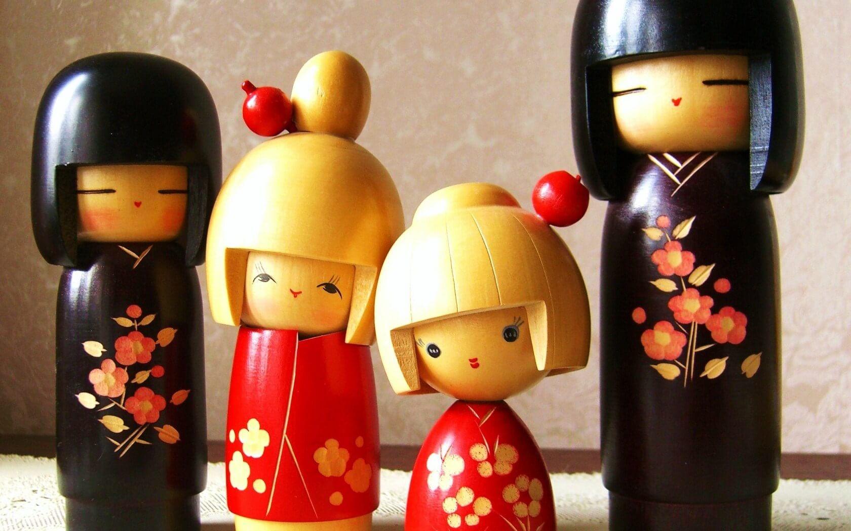 Quà lưu niệm Nhật - Búp bê gỗ Kokeshi