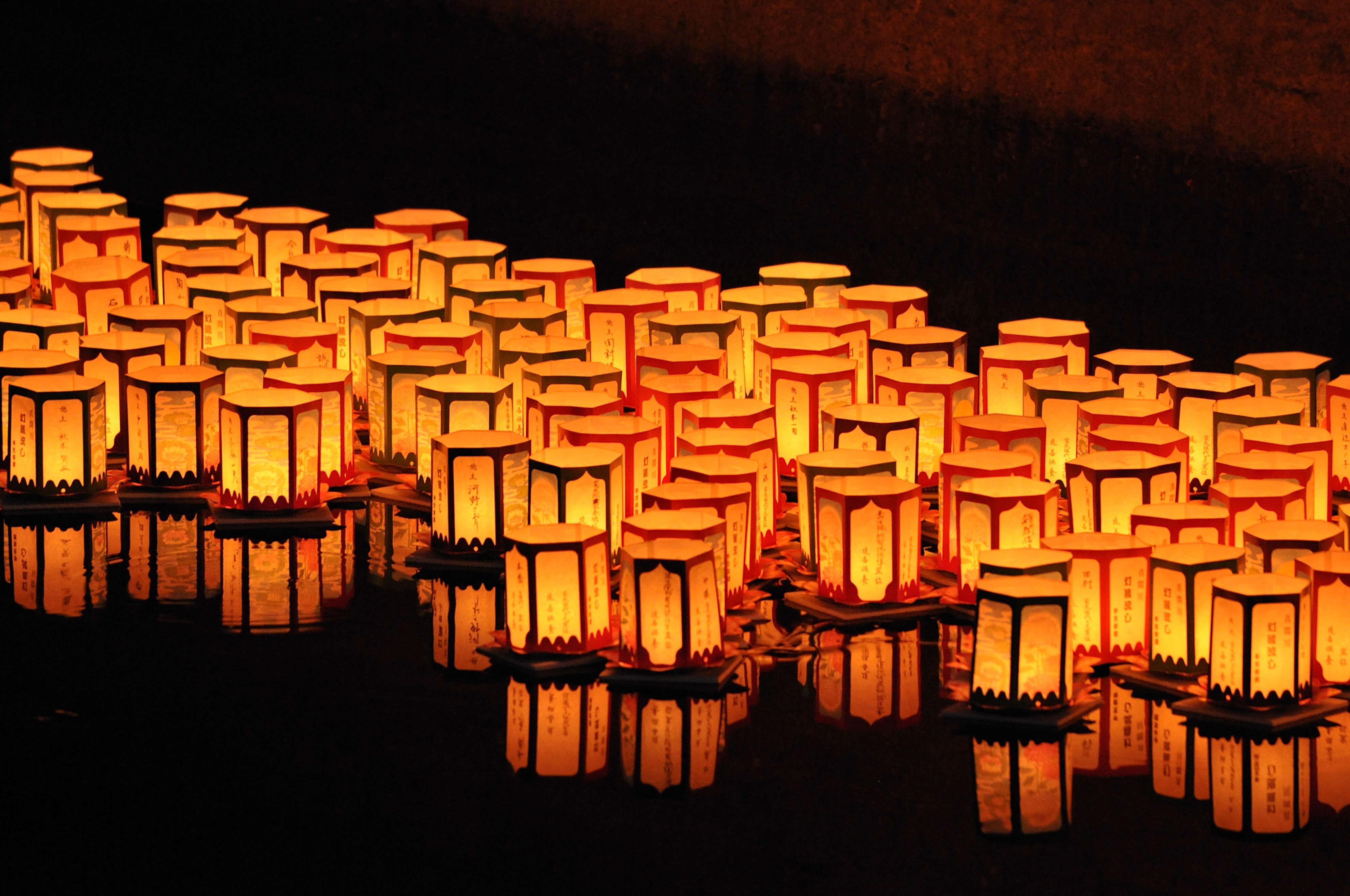 Truyền thống Nhật Bản - Thả đèn lồng